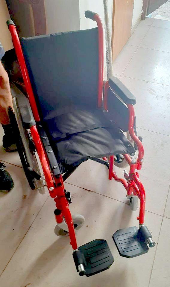 כיסא הגלגלים שנתרם