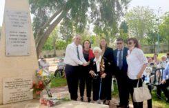 בהצדעה לווטרנים וללוחמים היהודים, באנדרטה ברח' ניצולי השואה