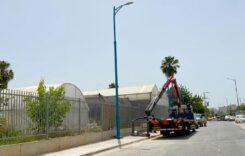 התקנת עמודי תאורה חדשים ברחוב השייטת בלוד