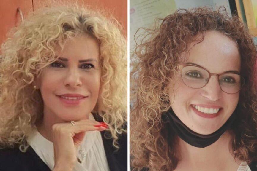 שירין מחראב מנהלת ביס אל זהראא (מימין) וענת אסף מנהלת ביס לוי אשכול
