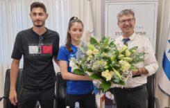 אבישג סמברג ונמרוד קרביצקי מרמלה זכו במדליית זהב בגביע העולם 2